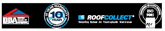 CF Roofing Certified Logos